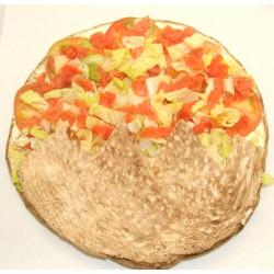Pan de arabo de salmón ahumado