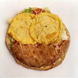 Pan de arabo de tortilla francesa